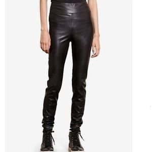 NWT Ralph Lauren Black Faux Leather Vegan Leggings